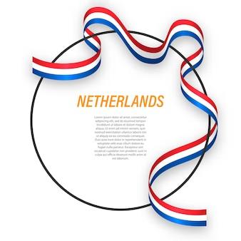 3d paesi bassi con bandiera nazionale.