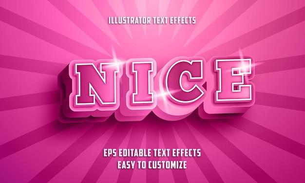 Stile di effetti di testo modificabile stile 3d piacevole