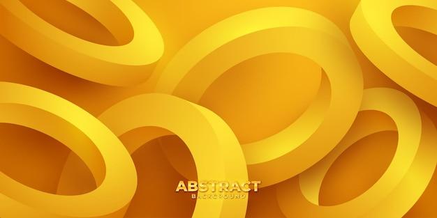 Sfondo arancione 3d con colore sfumato