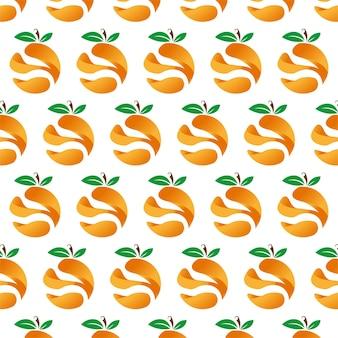 Fondo floreale del modello di frutta arancione 3d