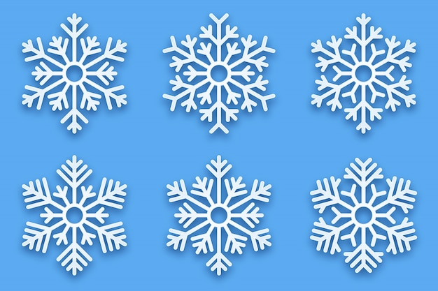 Fiocchi di neve decorativi papercut 3d