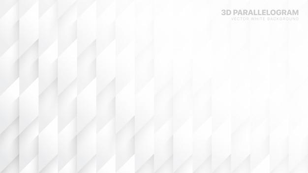 Il parallelogramma 3d blocca il fondo astratto bianco concettuale
