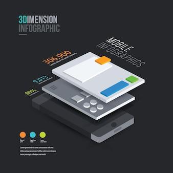 Infografica telefono 3d