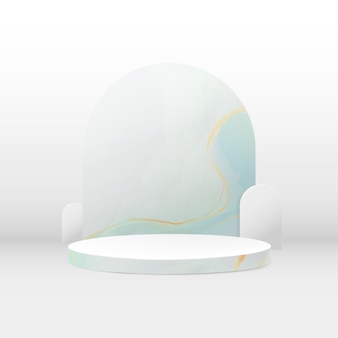 Composizione del podio 3d. fondo geometrico minimo astratto. trama di marmo. spazio per il tuo design.