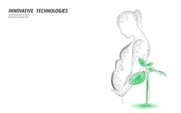 Concetto organico dell'integratore alimentare delle donne incinte 3d. complesso minerale vitaminico alimentare naturale a base di erbe. gravidanza femminile assistenza sanitaria terapia folico anemia prenatale prevenzione nutrizione illustrazione vettoriale.