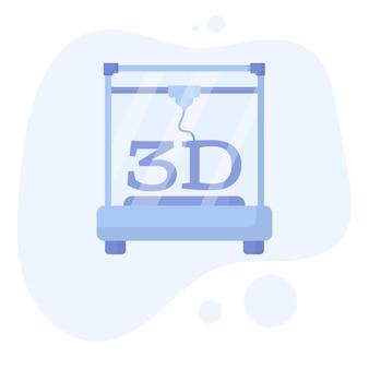 La stampante 3d ha stampato un vaso tecnologie additive per hobby e artigianato