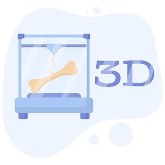 La stampante 3d ha stampato un vaso tecnologie additive per hobby artigianatotecnologie moderne