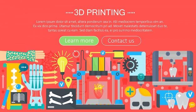 Concetto di web tecnologia stampante 3d