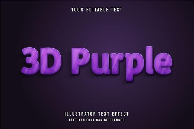 3d viola, 3d effetto di testo modificabile. stile di testo comico