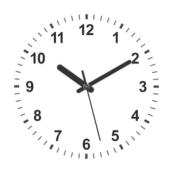 Orologio a forma di cerchio realistico 3d. illustrazione vettoriale