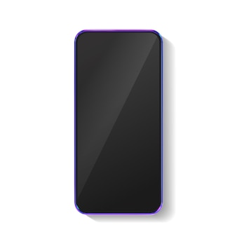 Mockup di smartphone colorato realistico 3d