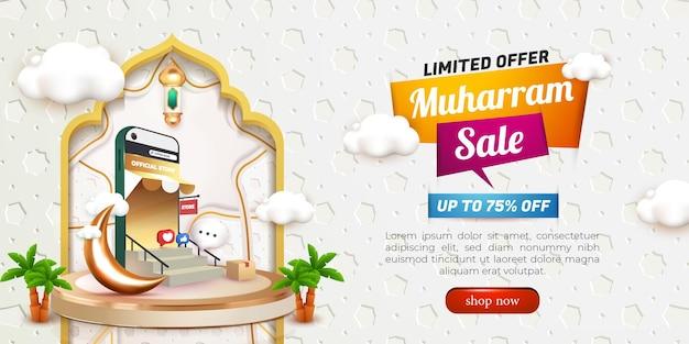Podio realistico di lusso in oro nero 3d e vetrina di sfondo nuvola carina per prodotti di lusso
