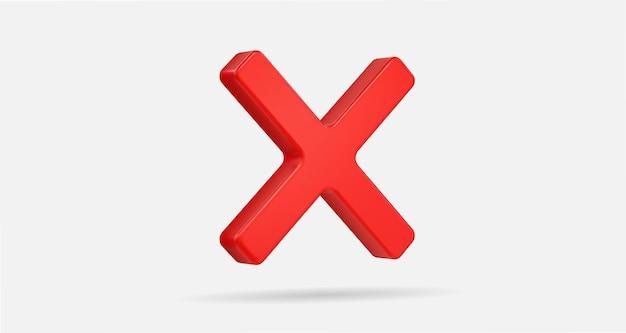 3d realistico croce rossa segno di spunta illustrazione vettoriale