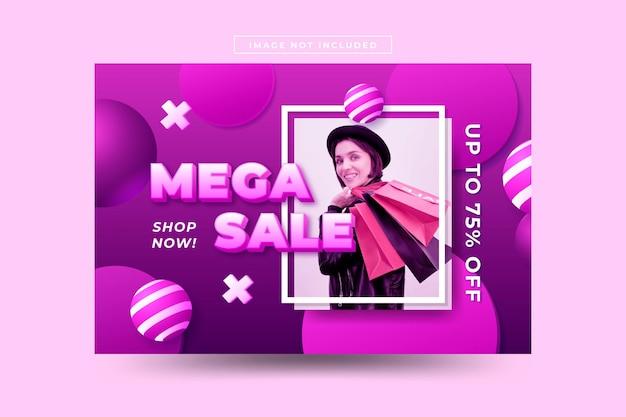 Sfondo di vendita realistico 3d con foto