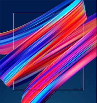3d realistico con pennellate colorate ad olio o pennellate acriliche