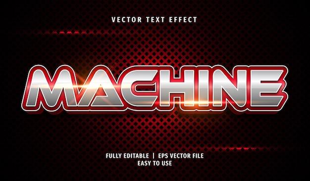 Effetto di testo macchina rossa 3d, stile di testo modificabile
