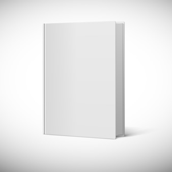 Rappresentazione 3d di una copertina di libro in bianco
