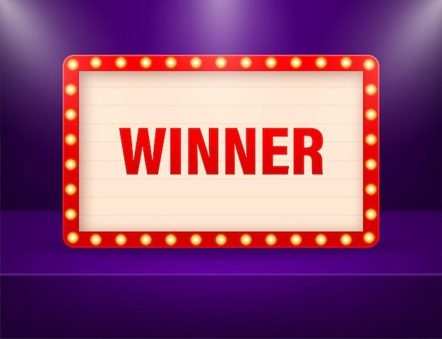 Lightbox del vincitore retrò 3d