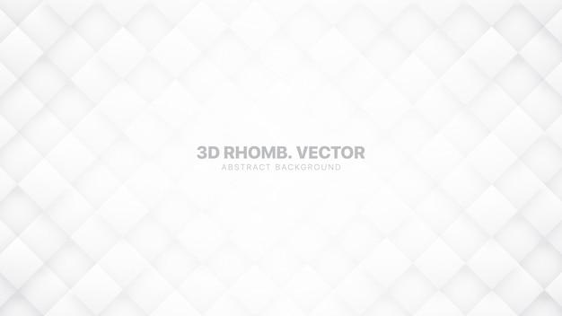 Il rombo 3d blocca il fondo astratto bianco tecnologico