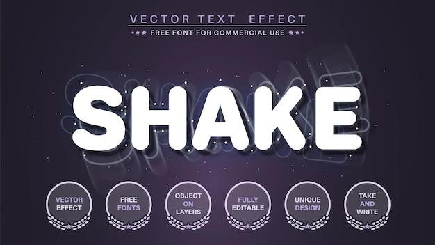 Effetto testo 3d shake