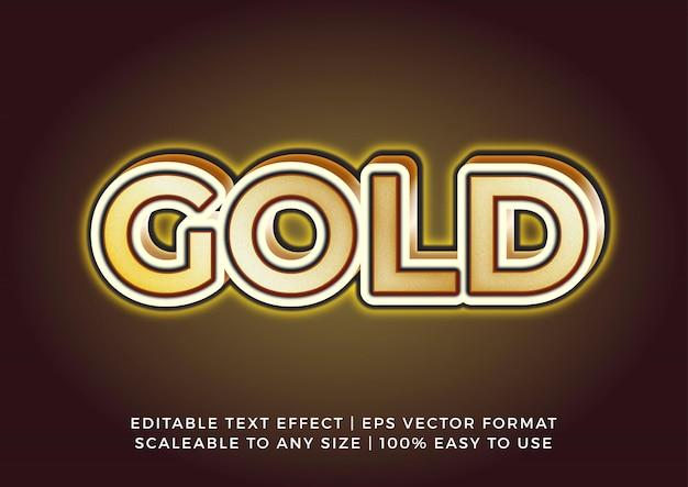 Effetto testo titolo oro lucido 3d