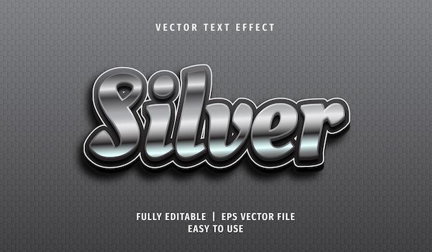 Effetto testo 3d argento, stile di testo modificabile