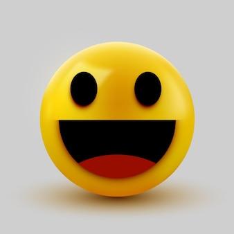 Emoticon sorridente del segno della palla 3d
