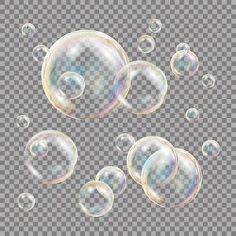 Bolle di sapone 3d trasparenti