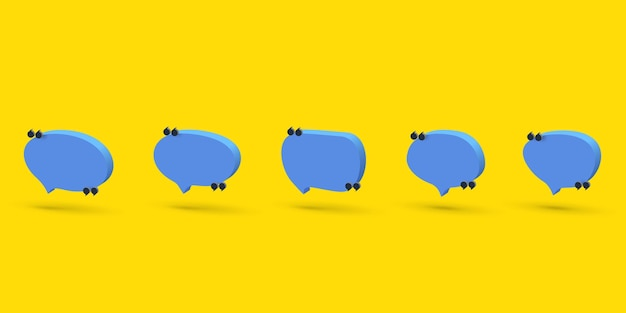 Insieme dell'icona della bolla di discorso 3d