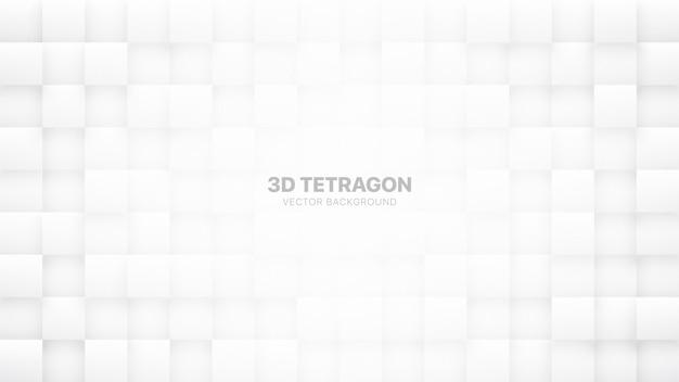 Fondo bianco dell'estratto di tecnologia dei blocchi quadrati 3d