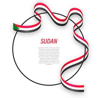 3d sudan con bandiera nazionale.