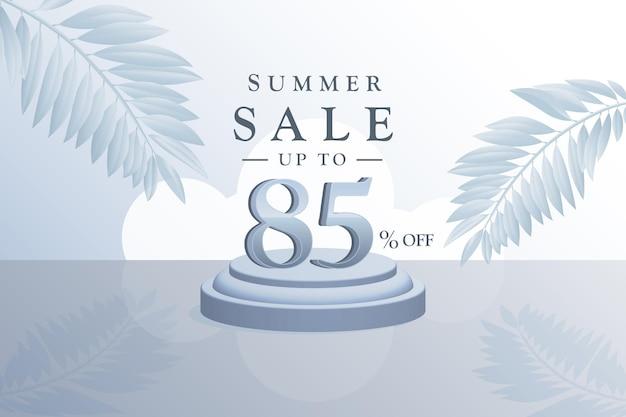 Sconto del fondo di vendita di estate 3d con ottantacinque 85 percento