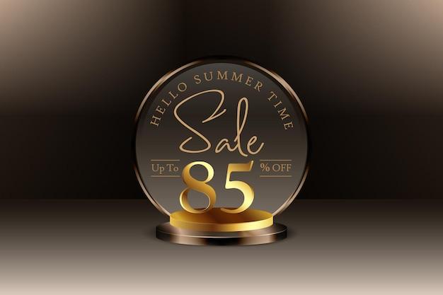 Sconto banner vendita estiva 3d con ottantacinque 85 percento