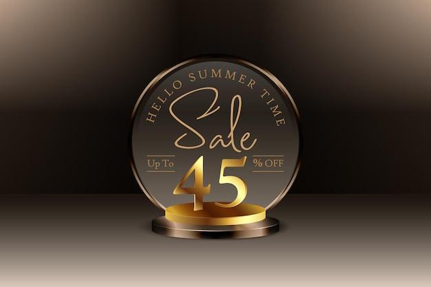 Sconto banner vendita estiva 3d con quarantacinque 45 percento