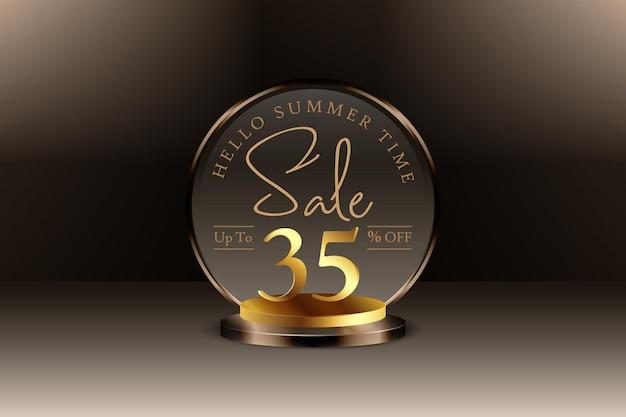 Sconto banner vendita estiva 3d con trentacinque 35 percento