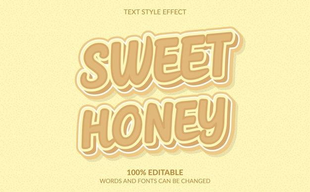Effetto stile testo 3d dolce miele 3