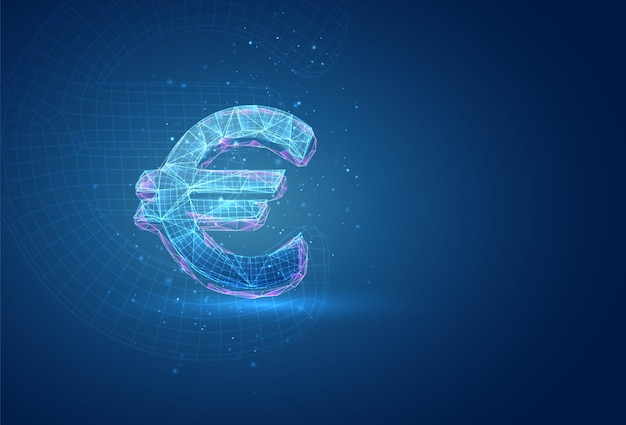 Simbolo 3d su sfondo blu