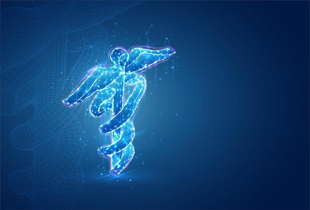 Simbolo 3d, oggetto volumetrico sull'azzurro