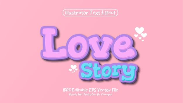 Premium modificabile storia d'amore effetto testo 3d