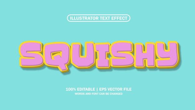 File eps squishy effetto testo 3d modificabile premium