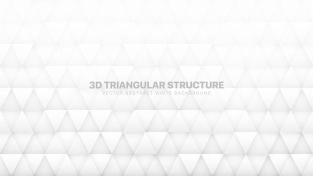 Triangoli 3d struttura tecnologica sfondo astratto bianco