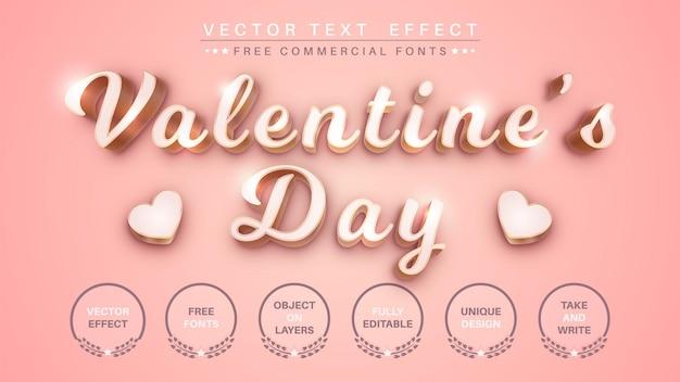 Effetto testo 3d di san valentino