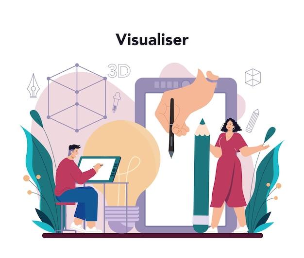 Concetto di visualizzatore 3d
