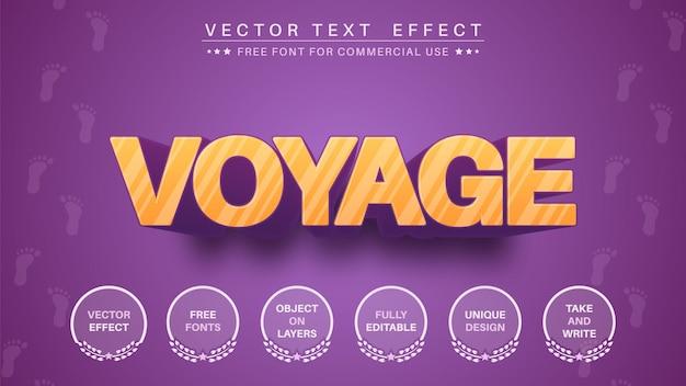 Effetto testo 3d voyage