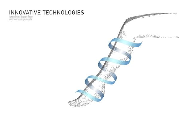 Concetto di bellezza di cura della stazione termale della gamba della donna 3d. operazione medica varicosa