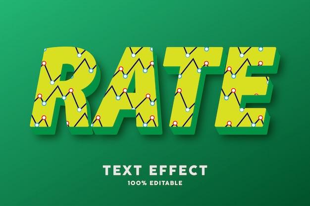 Verde giallo 3d con effetto di testo astratto del modello di zigzag
