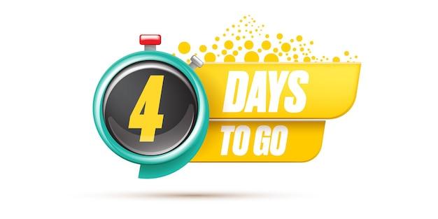 4 giorni per andare modello di progettazione banner