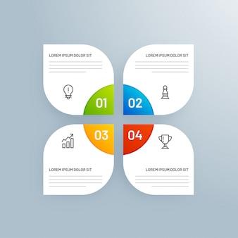 4 diversi livelli infographic
