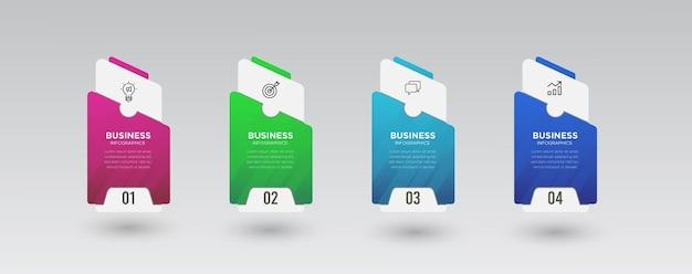 Progettazione di infografica aziendale in 4 passaggi