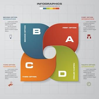 4 passaggi di presentazione modello di infografica